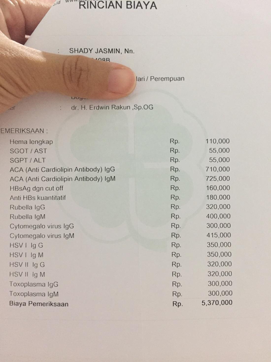 Harga premarital cek up biomedika