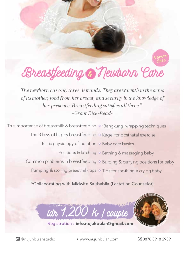 Breastfeeding and newborn care nujuh bulan studio